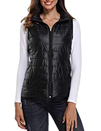 Anienaya Women's Packable Lightweight Warm Quilted Gilets Puffer Vest w 2Pockets