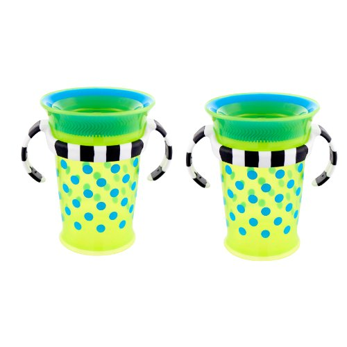 Sassy Grow Up Cup , Blue/Green, 7 Ounce, 2-Count, Baby & Kids Zone