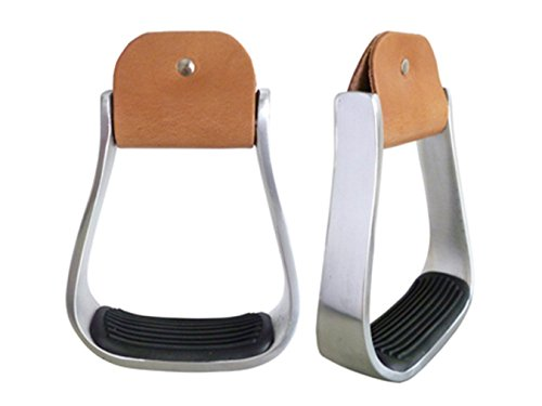 2″ Western Aluminum Barrel Roper Show Saddle Stirrups 5″ Foot Light Weight