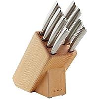 Scanpan Classic Steel Knife Block Set, Silver, 18383