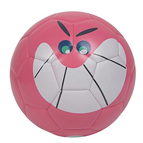 GLORY SPORTS Toddler/Kid Soft Soccer Ball size 3-Cute Cartoon (Pink Soft Soccer Ball)