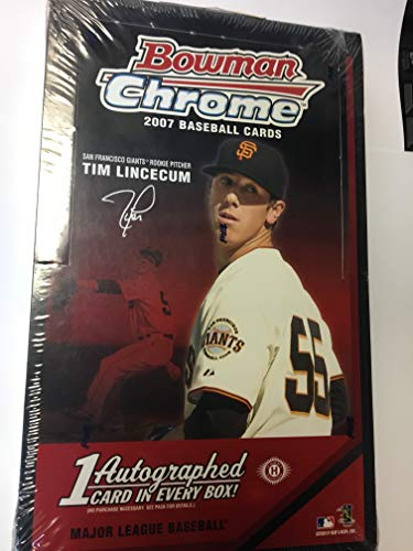 2007 Bowman Chrome Baseball Sealed Hobby Box Of 18 Packs 4 Cards Per 1 Auto Per Box -