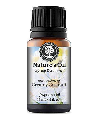 - Creamy Coconut Fragrance Oil (15ml) For Diffusers, Soap Making, Candles, Lotion, Home Scents, Linen Spray, Bath Bombs, Slime