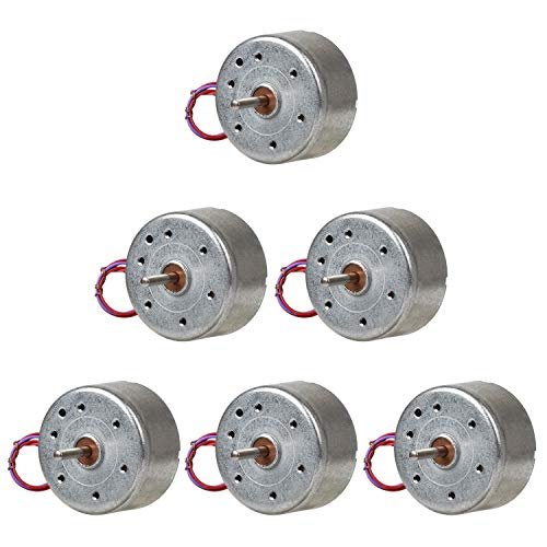 Topoox 6 Pack DC 3V 1730RPM Mini Electric Motor for DIY Toys Wind Turbine Generator (Best Motor To Use For Wind Generator)