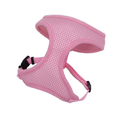 Coastal Pet Products DCP6313XXSPKB 3/8-Inch Nylon Comfort Soft Adjustable Dog Harness, XX-Small, Bright Pink chic