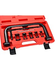 ATPEAM Auto Valve Spring Compressor C Clamp Tool Set Service Kit Suitable for Motorcycle, ATV, Car, Small Engine Vehicle Equipment