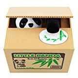 Peradix Money Toy Bank Automatic Stealing Coin Panda Coins Penny Cents Piggy Bank Money Saving Box for Kids Toddlers Children