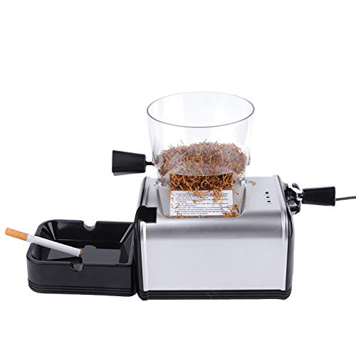 Vanell 8MM Tube Electric Cigarette Rolling Maker Automatic Cigarette Injector Machine with Tobacco Hopper King Size Pipe Tobacco Rolling Machine