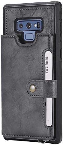 Samsung Galaxy S10 5G レザー ケース, 手帳型 サムスン ギャラクシー S10 5G 本革 財布 耐摩擦 ビジネス 携帯カバー カバー収納 無料付スマホ防水ポーチIPX8