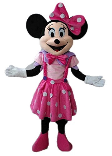 Adult Size Lovely Pink Minnie Mouse Mascot Costume Disney Mascots Cartoon Mascot Costumes ()