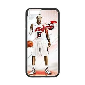 Lebron James 011 iPhone 6 Plus 5.5 pulgadas de la cubierta del caso funda Negro caja del teléfono celular Funda Cubierta EOKXLLNBC00368