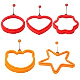 Romote Egg Ring Non-Stick – Pack of 5 Fired Egg Moulds – Silicone Pancakes/Breakfast Egg Mould from the Manufacturer