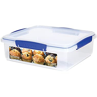 Sistema Klip It Collection Bakery Box Food Storage Container, 14.75 Cup