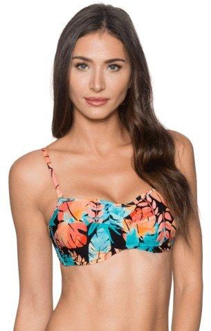 Sunsets Women's Iconic Twist Bra Sized Bandeau Tankini Top Swimsuit, Lorikeet, 34D (Bandeau Twist Bra)