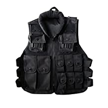 Children Tactical Vest,SHZONS Nylon Shooting Hunting Molle Clothes CS Game Field Combat Training Protective Vest,Security Guard Waistcoat