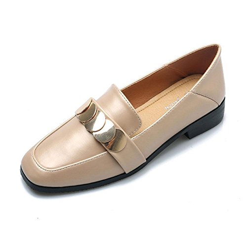 KUKI Arbeiten Sie flache Schuhe mit wilden Schuhen der Metallpaillette mit Füßen, die mit zwei getrampelt werden, um Baotou faule bequeme Schuhe zu tragen 1