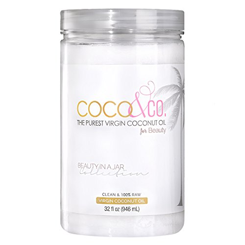 PURE & 100% RAW, Organic Virgin Coconut Oil for Hair, Skin, Body, Scalp and Hair Growth by COCO&CO. / Cosmetic Beauty Grade