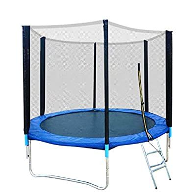 Onefa Trampoline for Kids Indoor Outdoor, 8 Feet Kids Trampoline with Enclosure Net Jumping Mat and Spring Cover Padding: Home & Kitchen