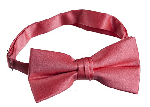 Mens Satin Bow Tie (Coral - Reef Bow
