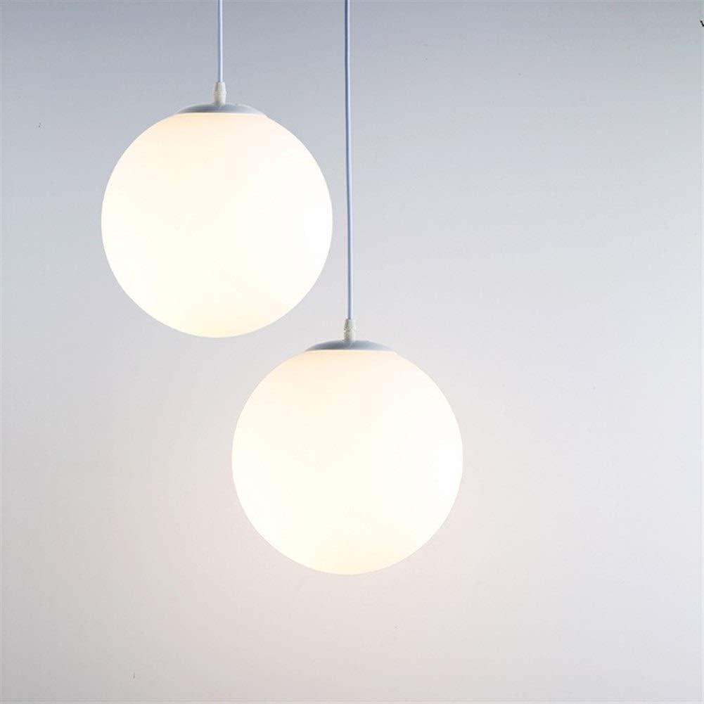 Moderne Minimalist Glaskugel Kronleuchter Nordic kreative Persönlichkeit Schlafzimmer Flur Lampe einköpfige Dreiköpfiger Lampen (Lampshade Color : Dia25CM) Dia25cm