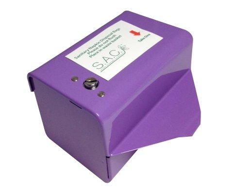 Sanitary Napkin & Tampon Disposal Bag Dispenser Kit - Roll Format, Lavender