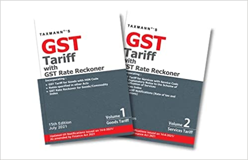 GST Tariff with rate reckoner
