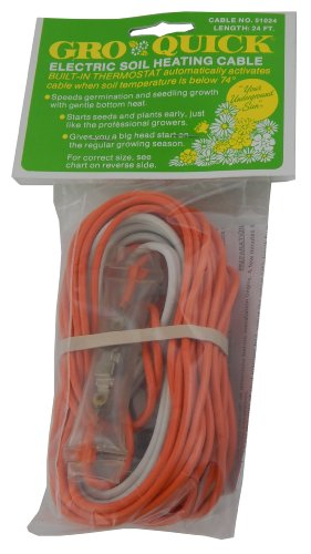 Gro Quick Electric Soil Heating/Warming Cable-ea 24 Ft