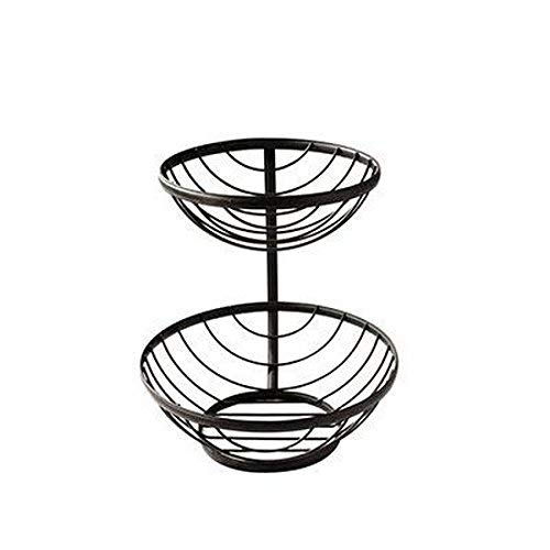 Basket Server - Spectrum Diversified Ashley 2-Tier Server, Black