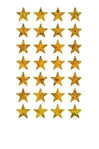 Etiquetas-pegatinas estrella Pequeño cobre-oro holograma