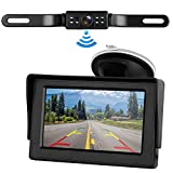 Digital Wireless Backup Camera &4.3'' Monitor kit RV/Car/Trailer/Truck/Motorhome High-Speed Observation System IP68 Waterproof Rear/Side/Front View Continous/Reversing Use Guide Lines ON/Off