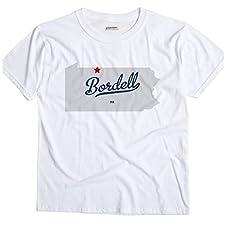 Bordell Pennsylvania PA MAP GreatCitees Unisex Souvenir T Shirt