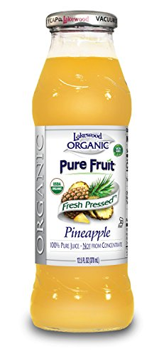 Lakewood Organic PURE Pineapple Juice, 12.5-Ounce Bottles (Pack of 12)