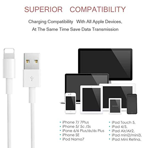 PKEDTNEL-(2 Pack 1M/3.3FT)-iPhone/iPad Charger Cable, [Original Charger]Lightning Cable Charging Cord USB Charger Cable Compatible with iPhone 12 11 XS XR X 8 7 6 5 iPad