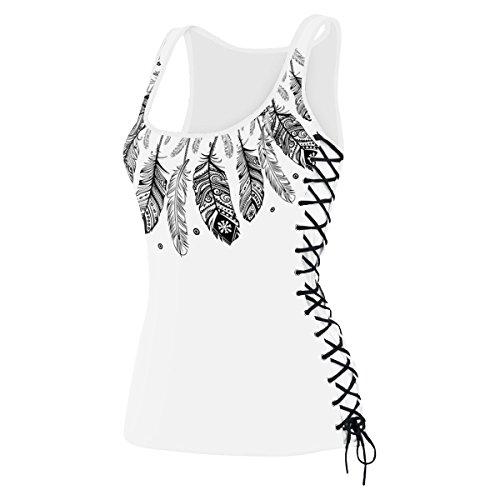 Leezeshaw - Camiseta sin mangas - para mujer Feather
