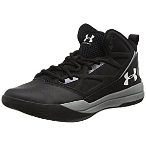 Under Armour Men's Jet Mid, Black (001)/Steel, 10.5