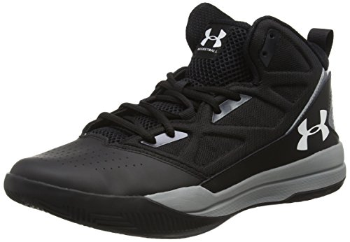 Under Armour Jet Mid, Chaussures de Basketball Homme, Noir (Black), 45.5 EU