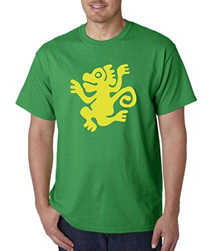 New Way 814 - Unisex T-Shirt Legends Hidden Temple LOTHT [Green Monkeys] Large Kelly Green -