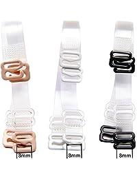 3 pares de correas invisibles de repuesto para sujetador de hombro