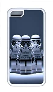 Apple iPhone 5C Case Cover - Three Robot Cool TPU Case Cover Protector For iPhone 5C - White