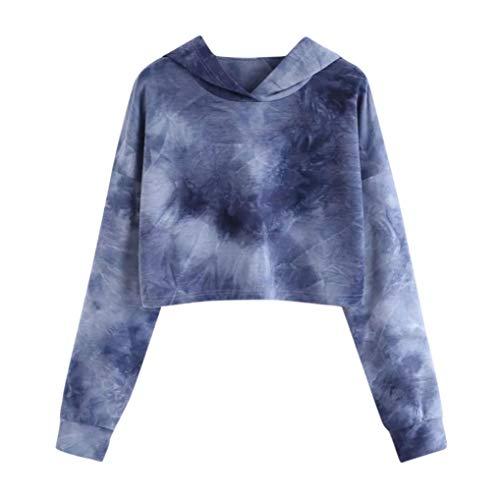 Haut Femme Hoodie Bleu Shirt Longue Tops De Imprimé Manche Foncé Aimee7 Sweat T Manteau shirt R8xqw7E