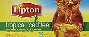 24 Gallon Size Lipton Tropical Iced Tea Bags (1 Box per order) by Lipton