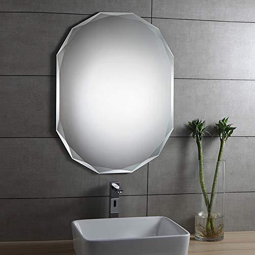 WWWRL Bathroom Shower Mirror/Frameless Wall Mirror / 45x60cm / Bevelled Edge, Bedroom -