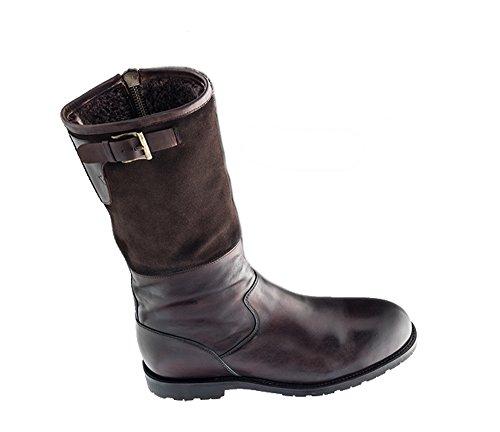 Prime Shoes Pilot Boot Rahmengenäht Dunkelbraun Espresso Stiefel feinstes Kalbsleder Braun