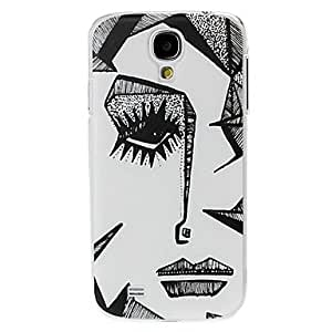 Abstract Face Pattern Plastic Case for Samsung Galaxy S4 I9500