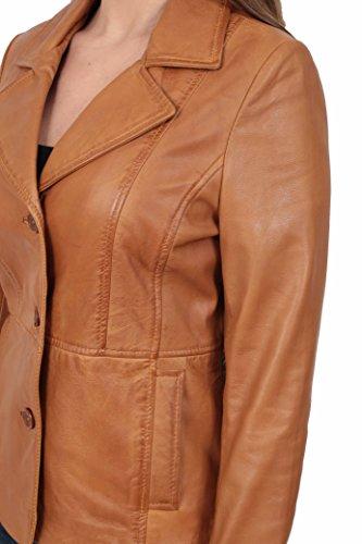 en Dames Femmes Judy Equipe Longueur A1 Classique Manteau Blazer pour Hip FASHION Bronzer Cuir Veste GOODS wYxxTqptf