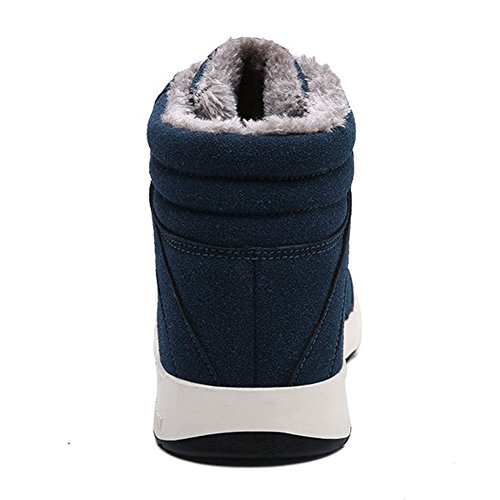 Herren High-Top Warm Gefütterte Schneestiefel Winterstiefel Outdoor Sneakers Winterschuhe Boots Stil4-Dunkel Grün