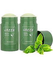 Green Tea Purifying Clay Stick Mask Oil Control Anti-Acne, Blackhead Remover, Moisturizes Oil Control, Deep Clean Pore, Improves Skin,for All Skin Types Men Women