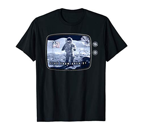 Fake Moon Landing Conspiracy Hoax Area 51 Live Broadcast T-Shirt