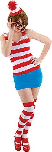 Mini Me Baby Costumes (Morris Costumes Women's WHERE'S WALDO DRESS SM MED)