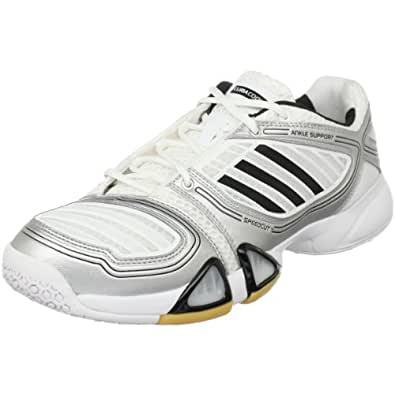 adidas Men's 6-3-1 Team Cc Men'S Volleyball Shoe,Running White/Black/Metallic Silver,13.5 D